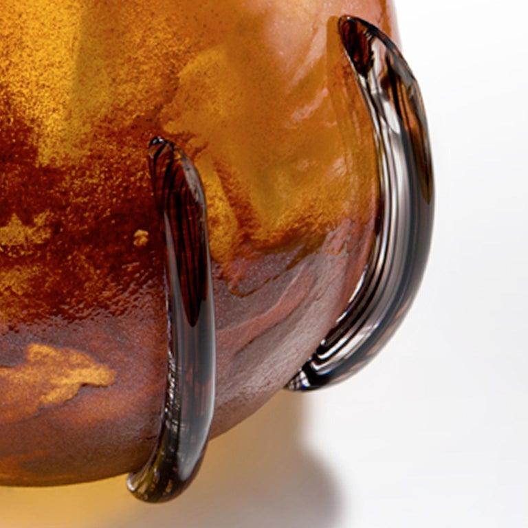 Modern Dark Amber Calabash - Inspired by the Caribbean fruit calabash For Sale