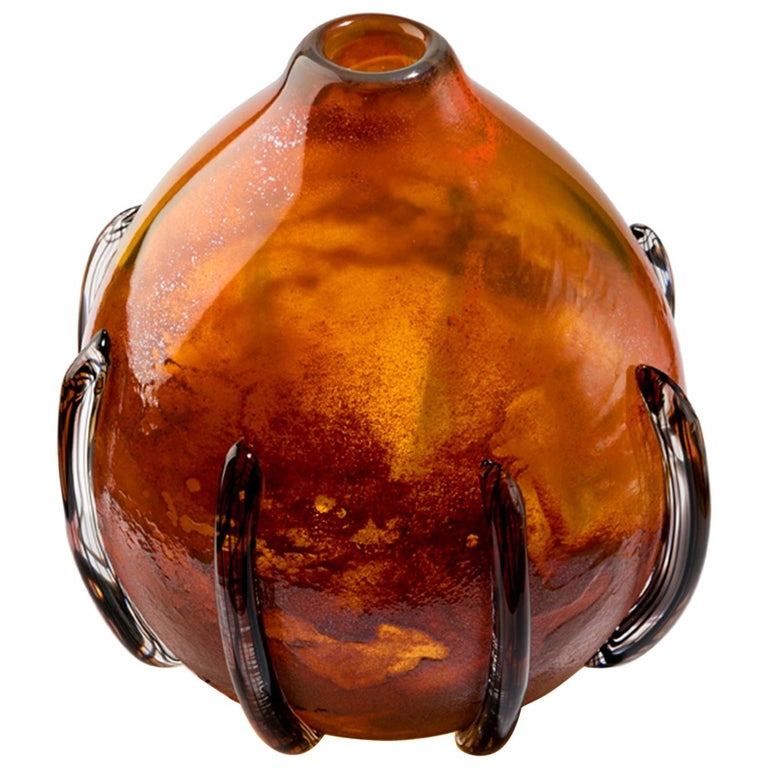 Dark Amber Calabash - Inspired by the Caribbean fruit calabash For Sale