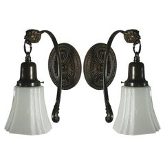 Dark Brass Ram Sconce( one available)