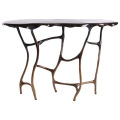 Dark Bronze Dali Console Table in Ombre Finish by Elan Atelier