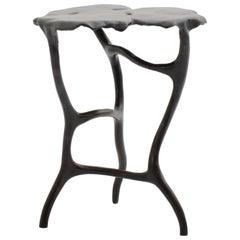 Dark Bronze Dali Side Table in Ombre Finish by Elan Atelier