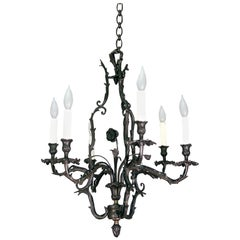 Dark Bronze Louis XV Chandelier