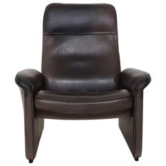 Dark Brown De Sede DS-50 Adjustable Recliner Lounge Chair, Switzerland, 1970s