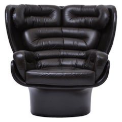 Dark Brown Elda Chair by Joe Colombo for Comfort, 1963
