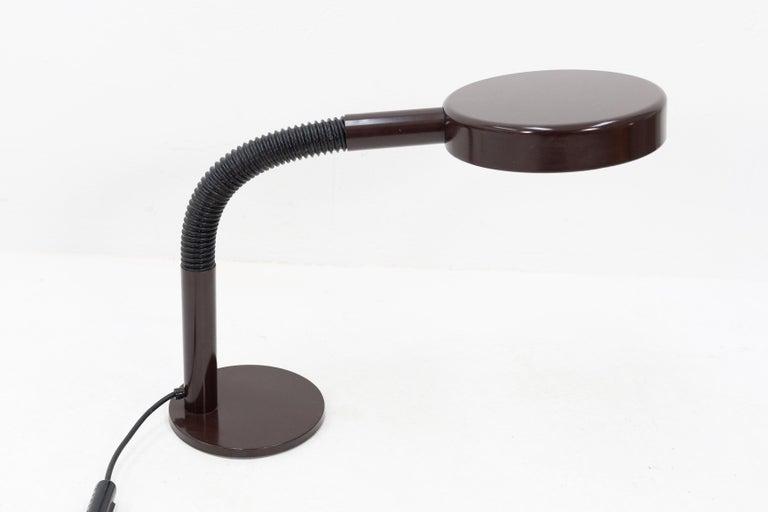 Dutch Dark Brown Hala Desk Lamp, 1970s For Sale