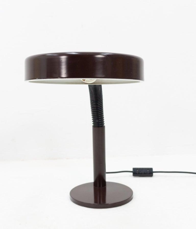 Dark Brown Hala Desk Lamp, 1970s In Good Condition For Sale In Den Haag, NL