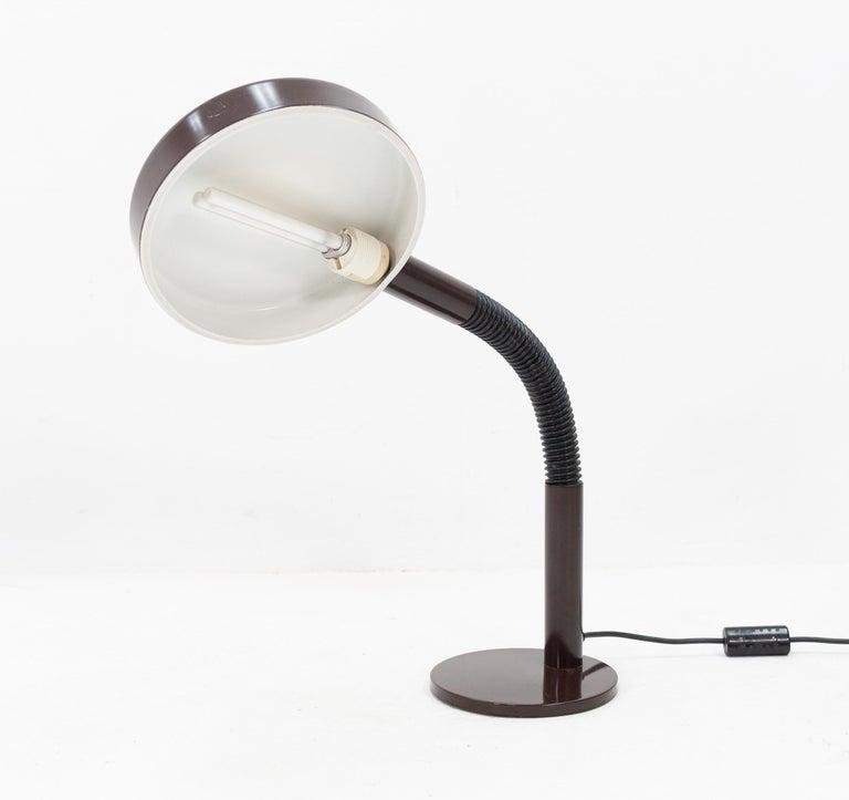 Late 20th Century Dark Brown Hala Desk Lamp, 1970s For Sale