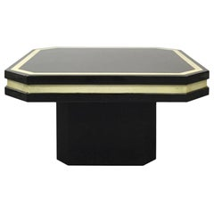 Dark Brown Lacquer Side Table