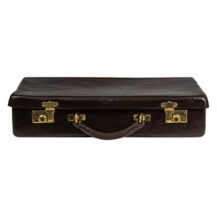 Dark Brown Leather Norfolk Hide Attache