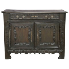 Dark Brown Oak French Buffet