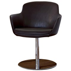Dark Brown Sella Swivel Chair