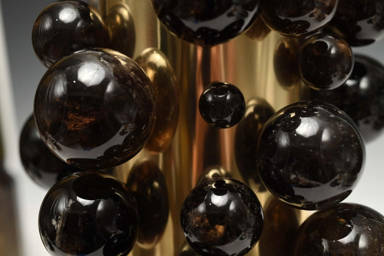 Dark Bubble Rock Crystal Lamps by Phoenix For Sale 1