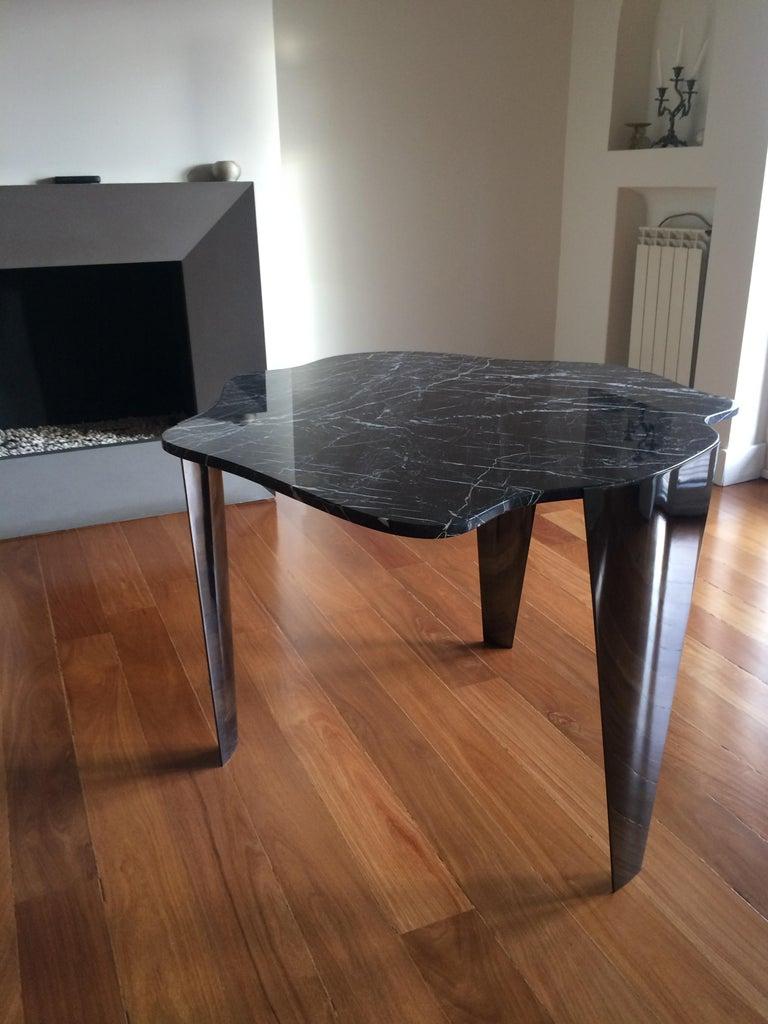 u0026 39 dark cloud u0026 39  centre in black italian nero marquina marble