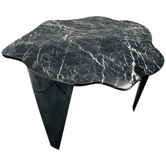 'Dark Cloud' Centre or Coffee Table in Black Italian Nero Marquina Marble