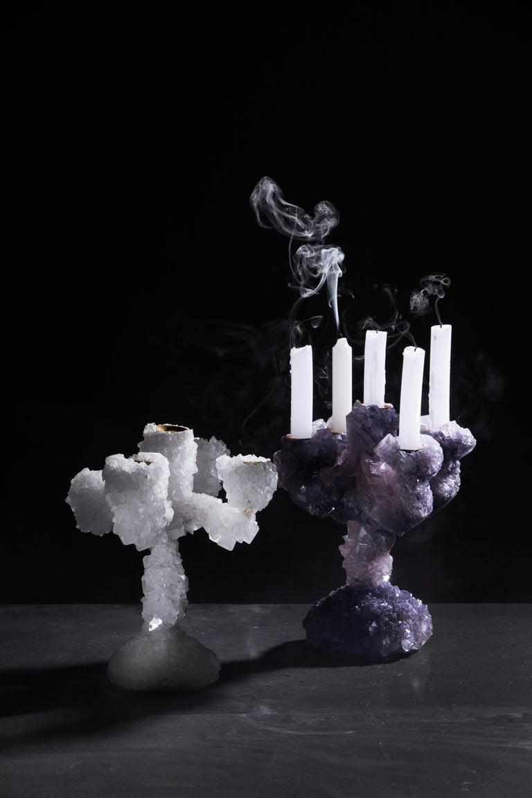 Dark Crystals Overgrown Candelabra, Mark Sturkenboom In New Condition For Sale In Collonge Bellerive, Geneve, CH
