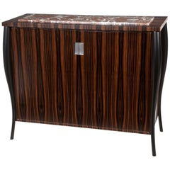 Dark Ebony Cocktail Cabinet with Stone Top