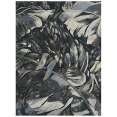 Dark Forest - Living Room Hand Knotted Wool Bamboo Silk Rug