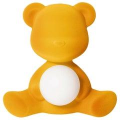 In Stock in Los Angeles, Dark Gold Velvet Teddy Bear Lamp LED Stefano Giovannoni