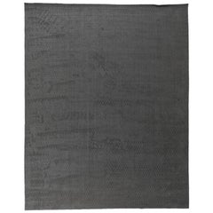 Dark Gray Loop and Cut Rug