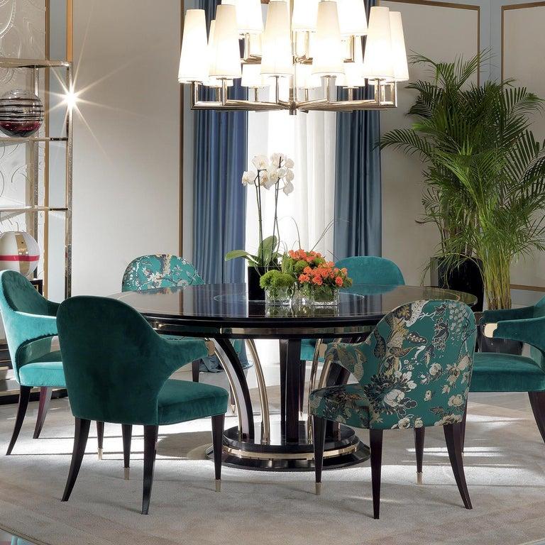 Italian Dark Green Chair For Sale