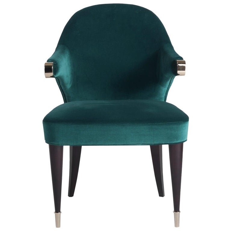 Dark Green Chair For Sale