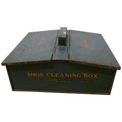 Dark Green Garrison Shoe Cleaning Tin