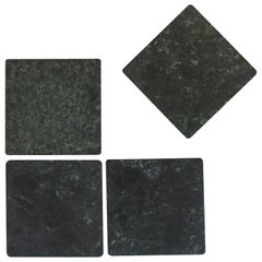 Dark Green Marble Stone Coaster Set