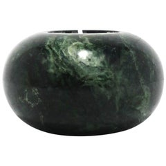 Dark Green Marble Votive Candleholder