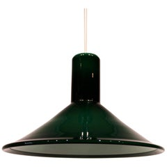 Dark Green P&T Glass Pendant by Michael Bang for Holmegaard