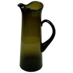 Dark Green Scandinavian Modern Glass Pitcher by Per Lutken for Holmegaard