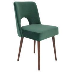 Dark Green Velvet 'Shell' Chair, 1960s