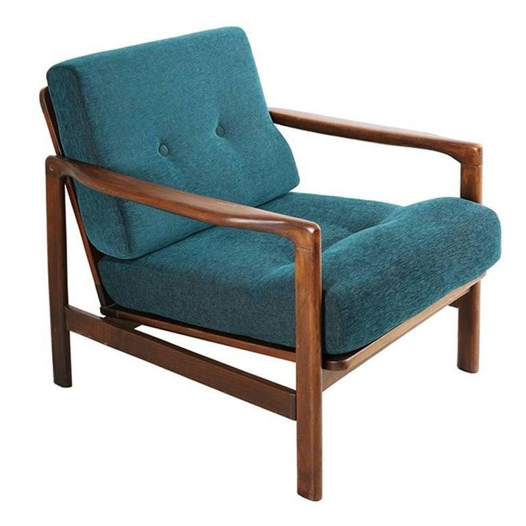 Dark Green Vintage Armchair 1960s