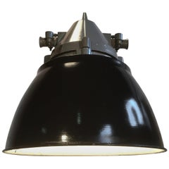 Dark Grey Aluminium Explosion Proof Lamp with Black Enameled Shade