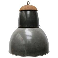 Dark Grey Enamel Vintage Industrial Pendant Light