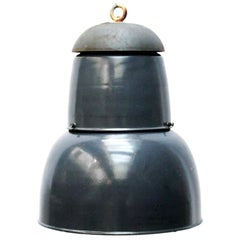 Dark Navy Blue Enamel Vintage Industrial Pendant Lights