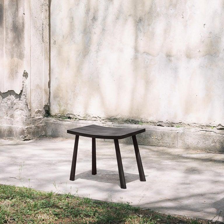 Italian Dark Oak Bench by Ce Studio For Sale