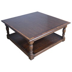 Dark Oak English Potboard Coffee Table