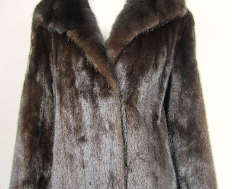 Black Dark Ranch Mink Coat Medium Stunning Classic Timeless  For Sale