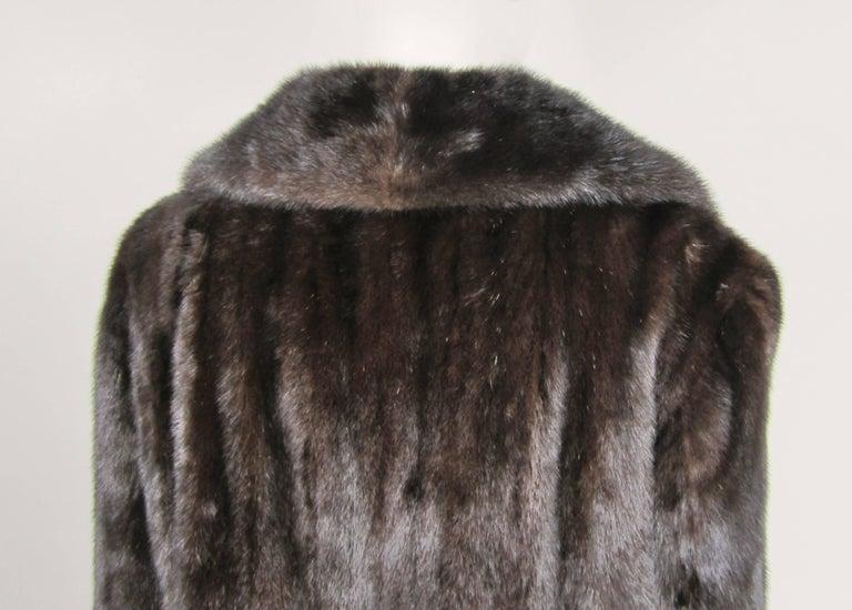 Dark Ranch Mink Coat Medium Stunning Classic Timeless  For Sale 2