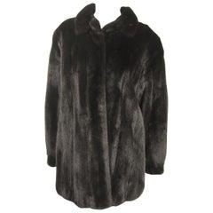 Dark Ranch Mink Jacket Coat Giorgio Sant' Angelo