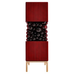 Dark-Red Cabinet, Bubbles Collection, Amazing Emotional Design for Your Interior