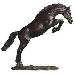 Dark Showjumper Sculpture