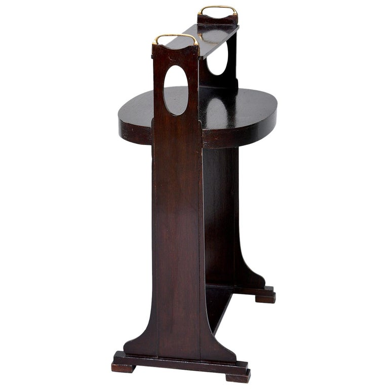 Dark Stained Palisander Arts & Crafts Stand or Side Table For Sale