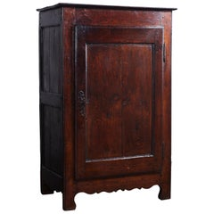 Dark Stained Single Door French Confiturie Cabinet