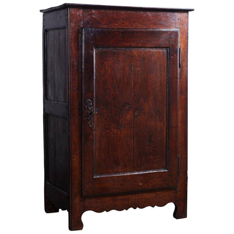 Dark Stained Single Door French Confiturie Cabinet For