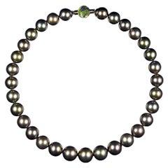 Dark Tahitian Pearls Necklace
