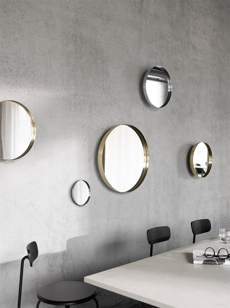 Darkly Mirror, Large, Brass, Designed by Nick Ross In New Condition For Sale In San Marcos, CA