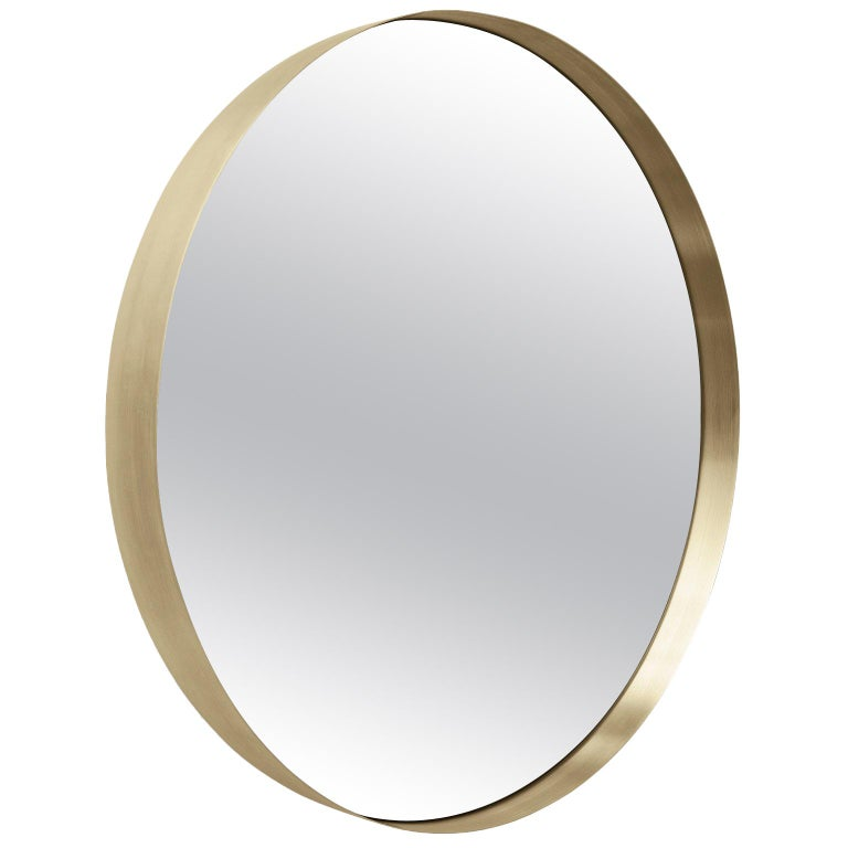Darkly Mirror, Large, Brass, Designed by Nick Ross For Sale