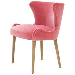 Darling Chair with Ruby Pink Velvet