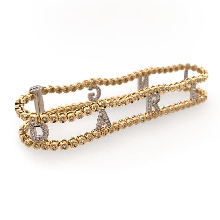 Artisan Darling Diamond Gold Riviere Bracelet For Sale